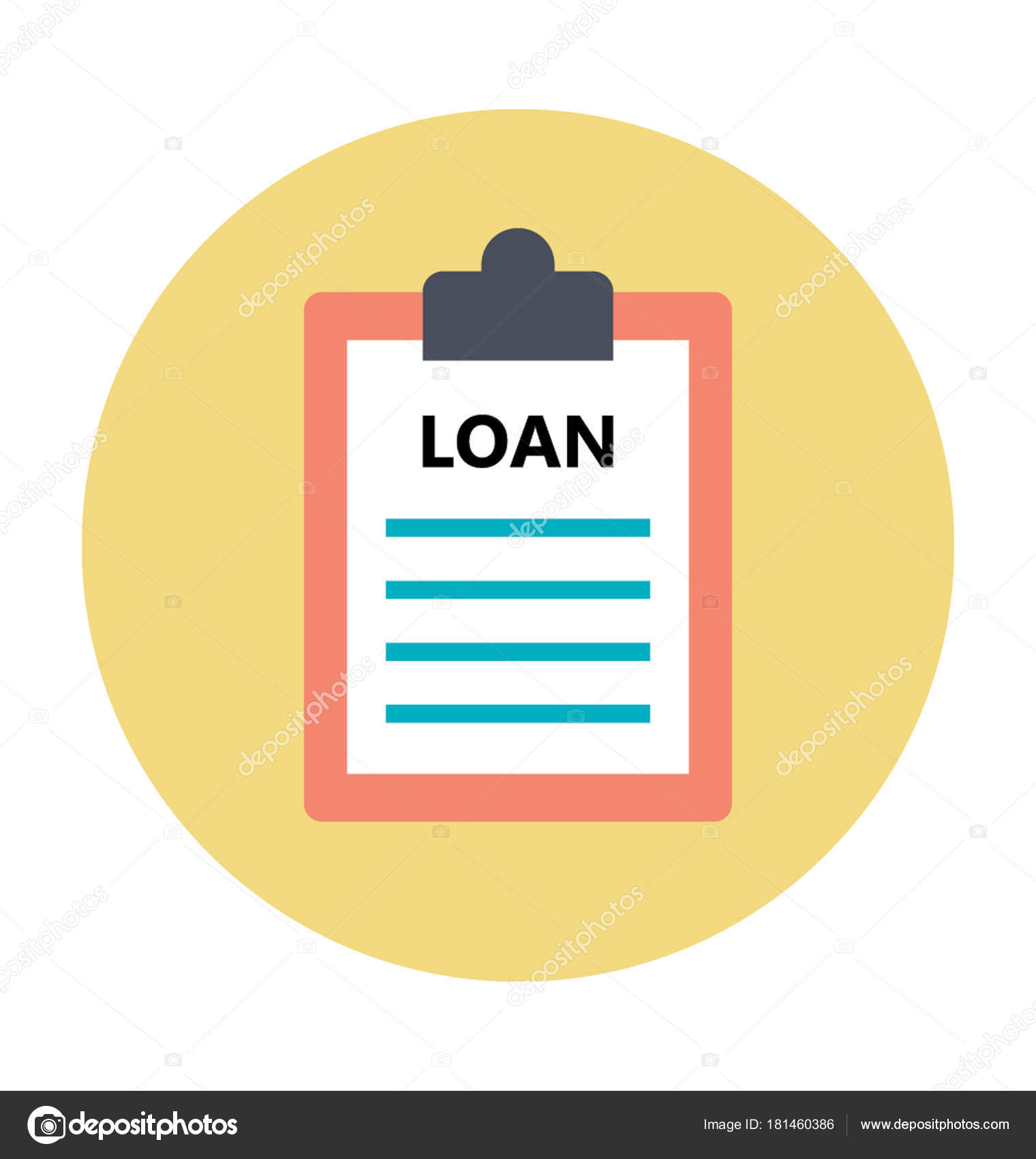 Loan Papers Colored Vector Icon — Stock Vector ...