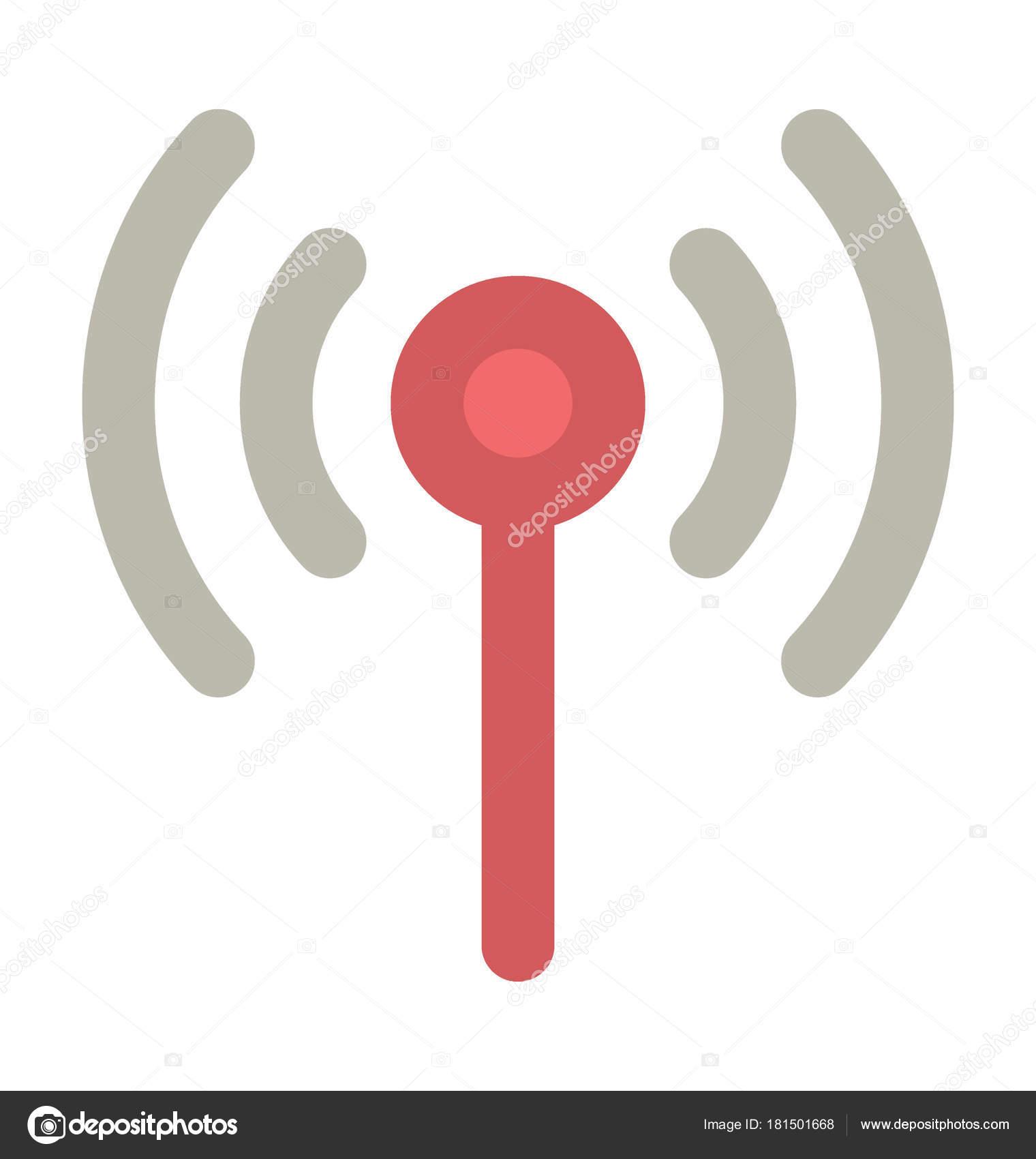 Wifi Turm Fett Vektor Icon — Stockvektor © vectorsmarket #181501668