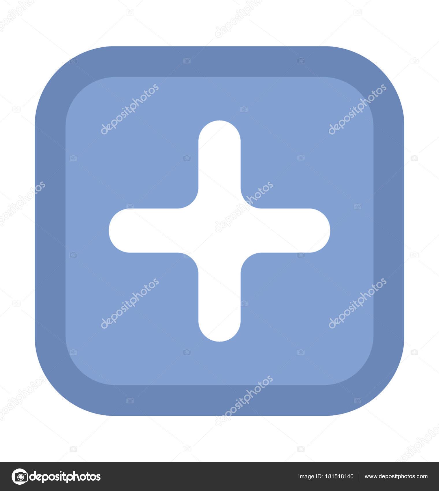 First Aid Sign Bold Vector Icon — Stock Vector © vectorsmarket