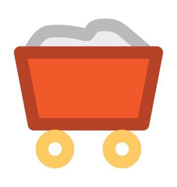 Coal Trolley Bold Vector Icon