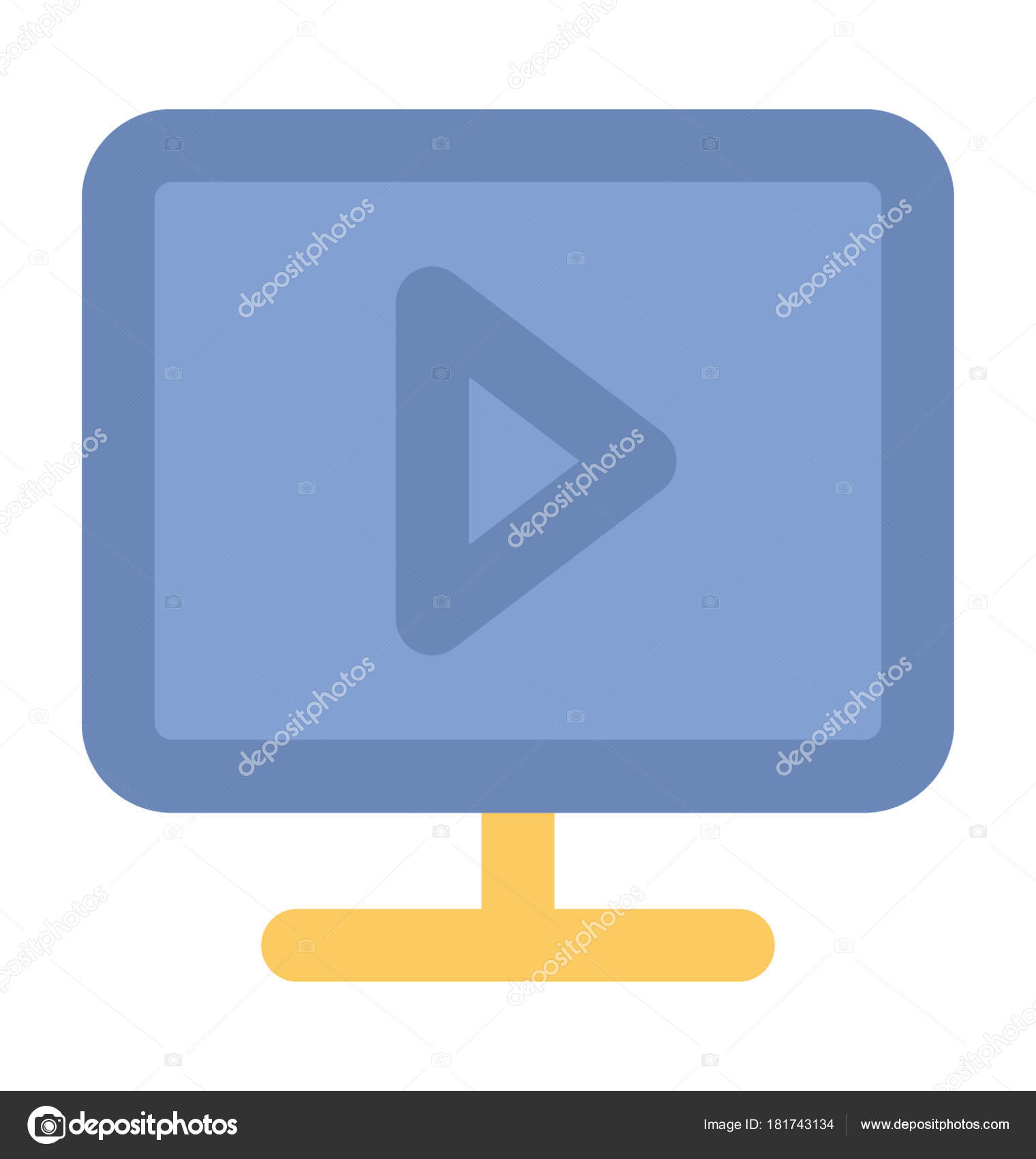Video Player Bold Vector Icon — Stock Vector © vectorsmarket #181743134