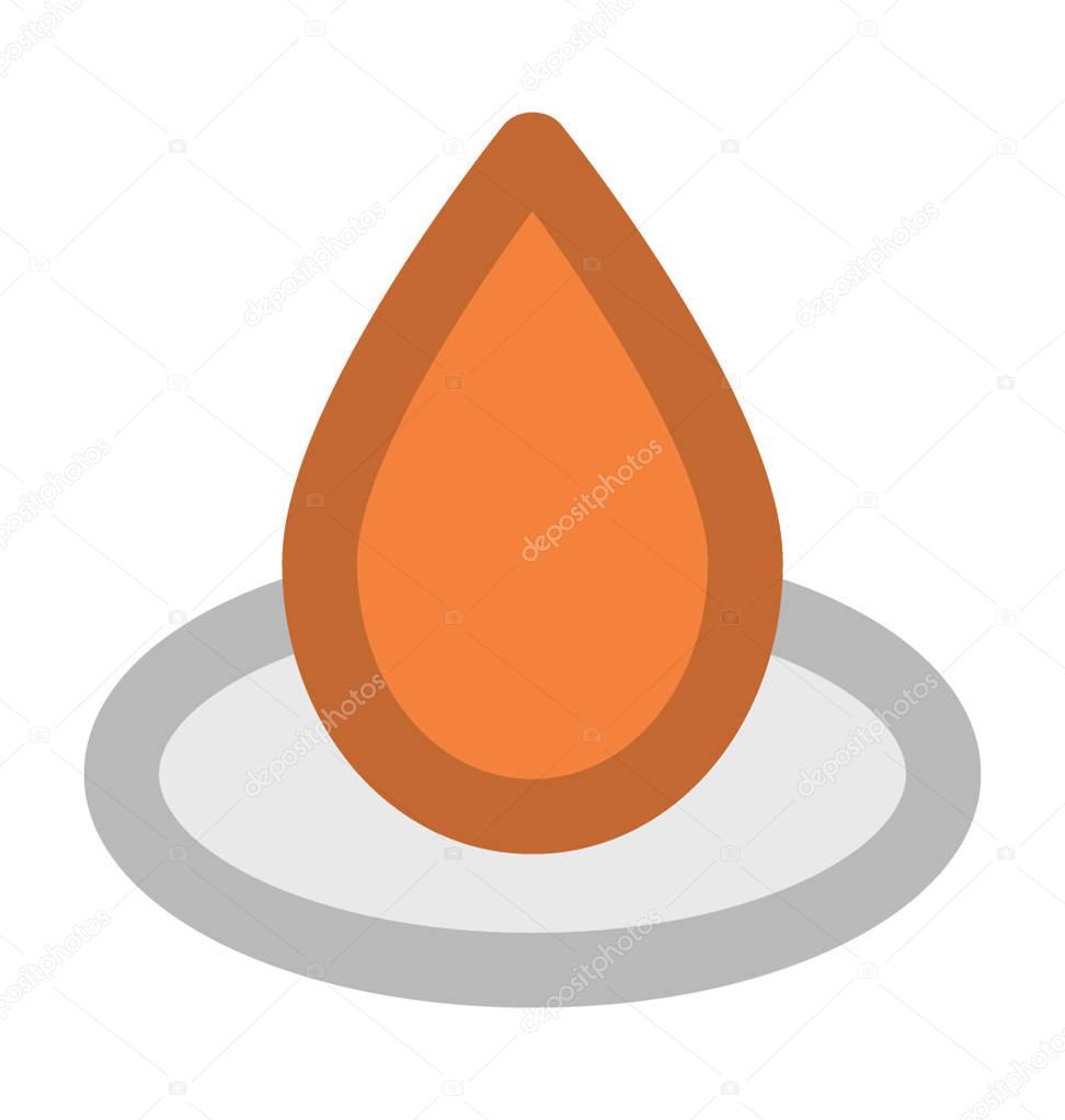 Drop Flat Vector Icon