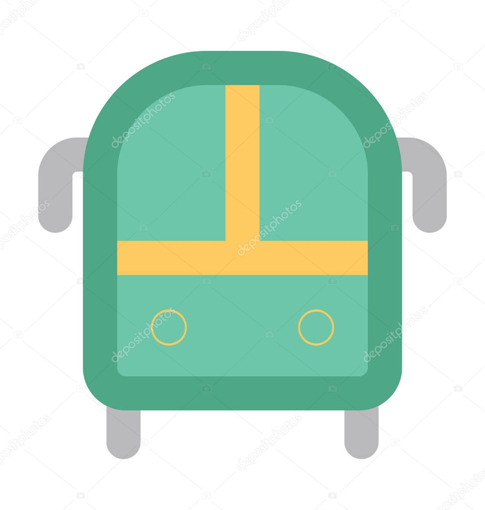 Bus Flat Vector Icon