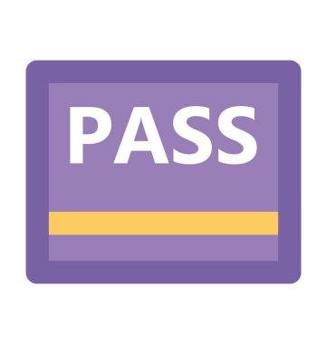 Pass Flat Vector Icon