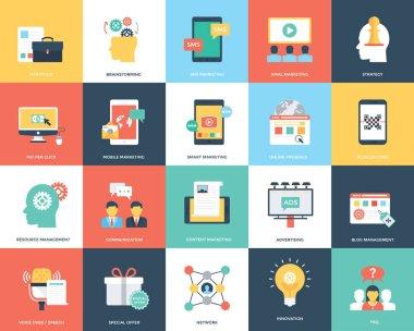 Digital Marketing Flat Vector Illustration Pack