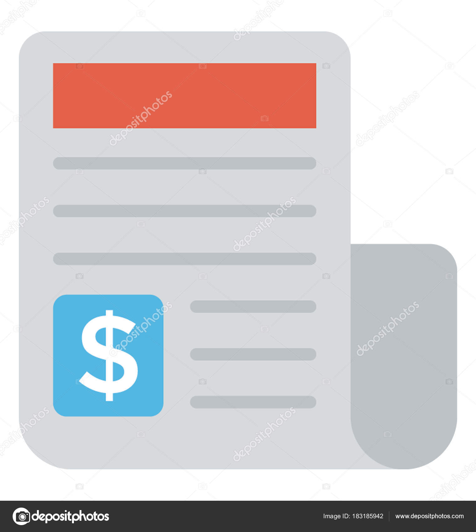 payment report financial statement flat icon stock vector