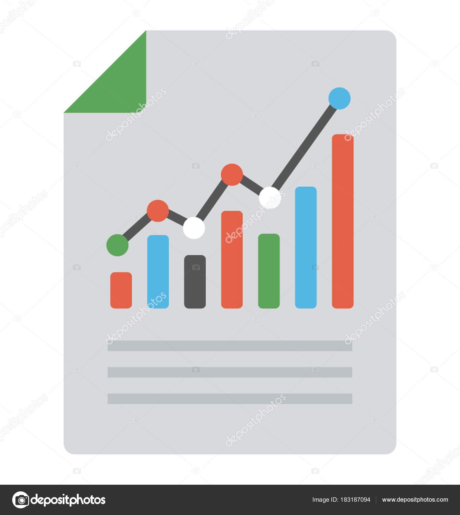 business growth report flat icon stock vector vectorsmarket