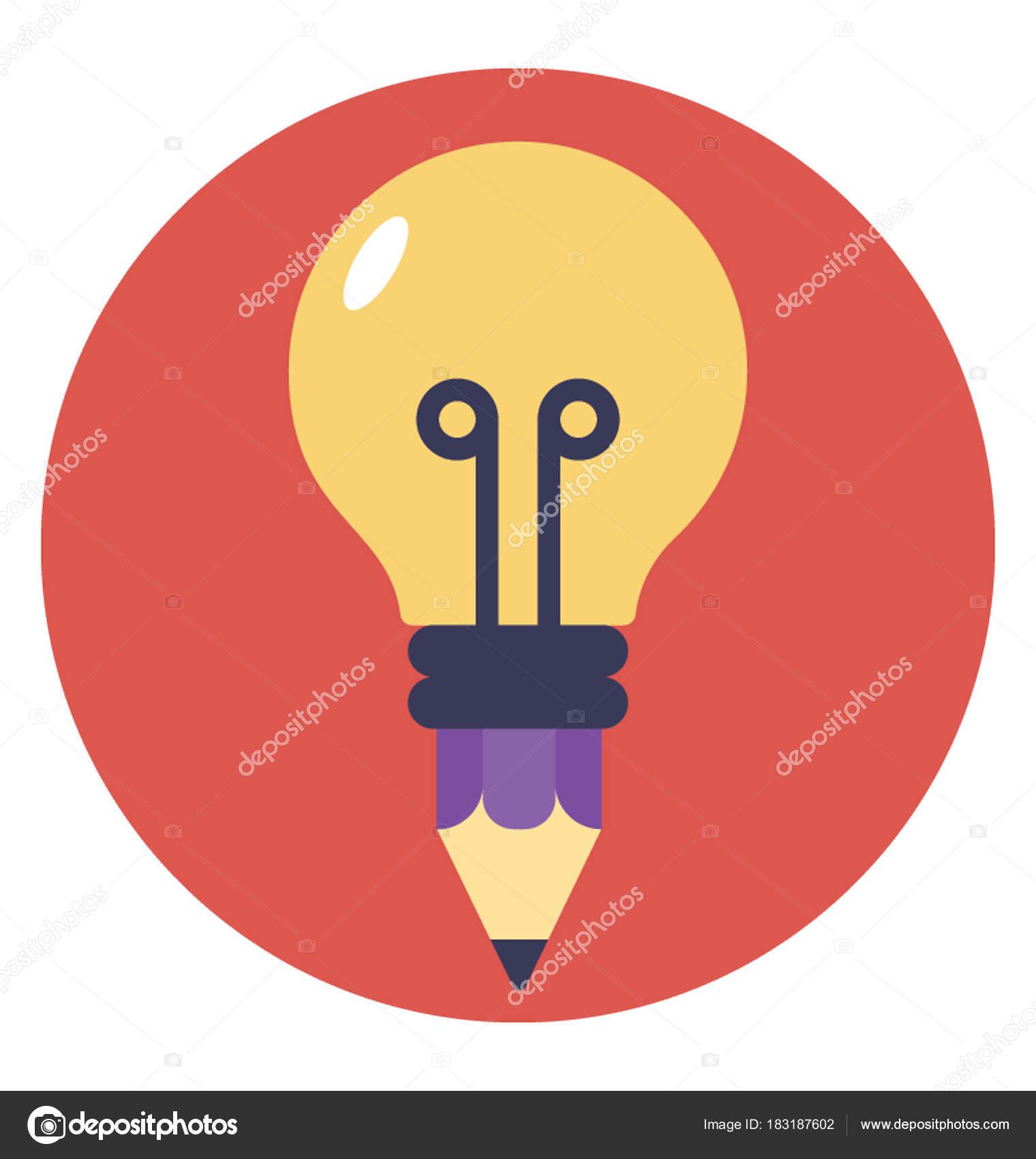 Flat Icon Creative Idea Bright Stock Vector