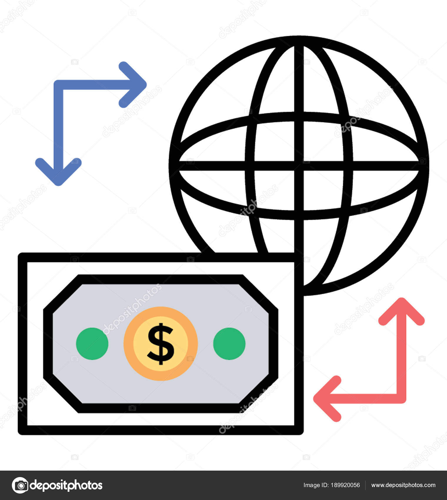 Free Wire Transfers | Doodle Icon International Transaction Wire Transfer Stock Vector