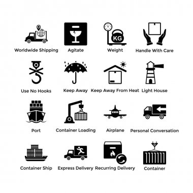 Logistic Delivery Glyph Conceptual Icons icon