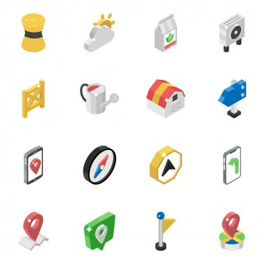 Map Location Isometric Vectors Pack icon
