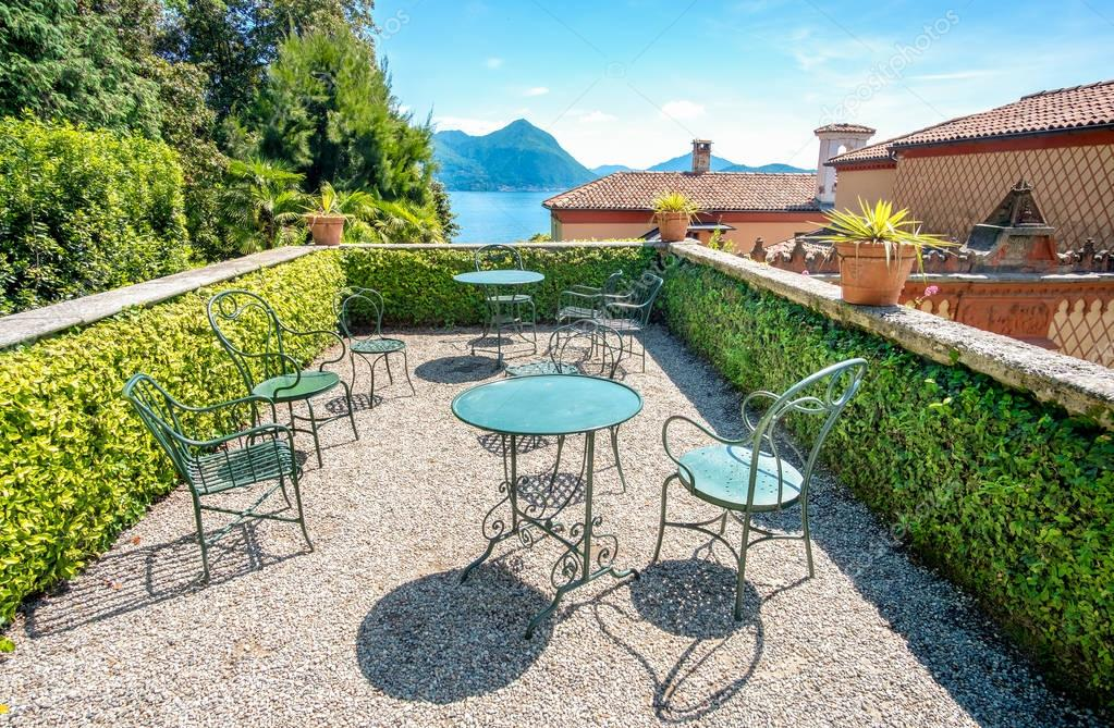 rooftop terrace over lake maggiore balcony