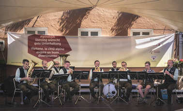 South tyrol band musicians play traditional songs from Alto Adige