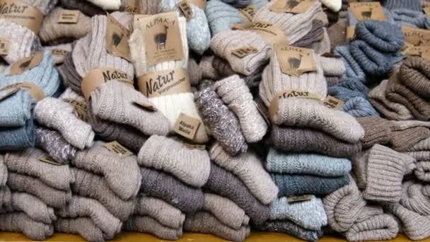 nuovo concetto caldo-vendita beni di consumo Calzini di lana di Alpaca sulla stalla del mercato