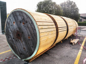 large containers for storing large electrical cables to be installed