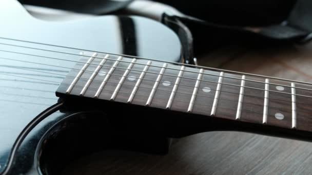 kytara hmatník nebo prkno detailní up