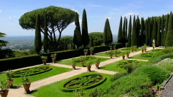 Rome local landmark of Castel Gandolfo - Lazio region Italy - Barberini gardens part of Palazzo Pontificio Pope summer residence
