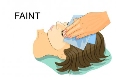 the girl fainted