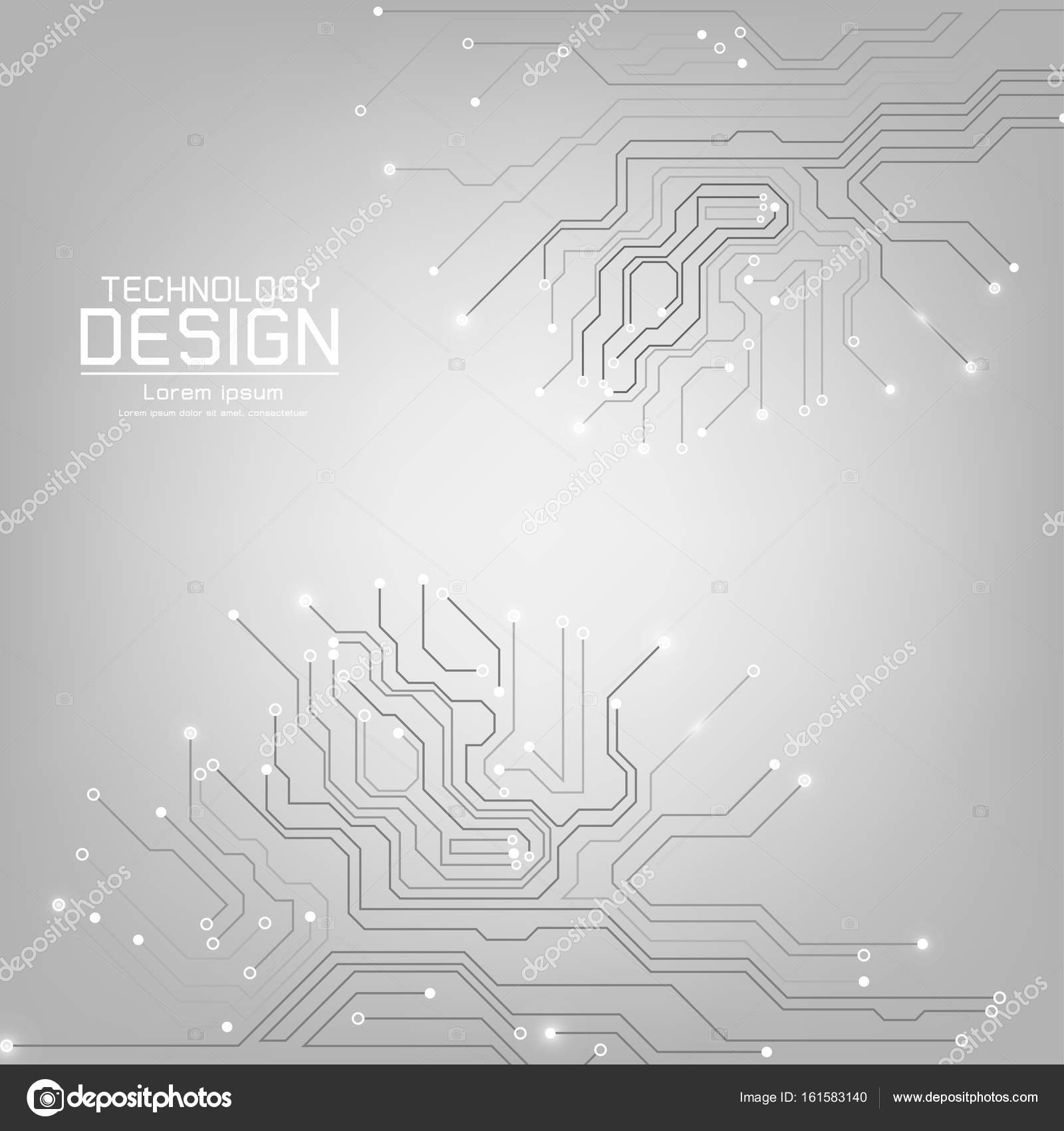Abstract Technology Vector With A Circuit Board Texture Stock Diagram