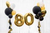 Fotografie Dekoration für 80 Jahre Geburtstag, Jubiläum