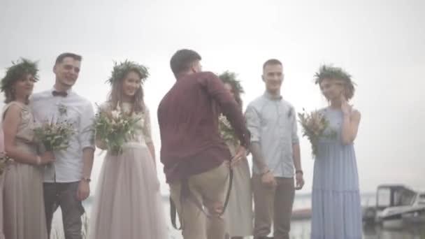 Celebrating wedding pier