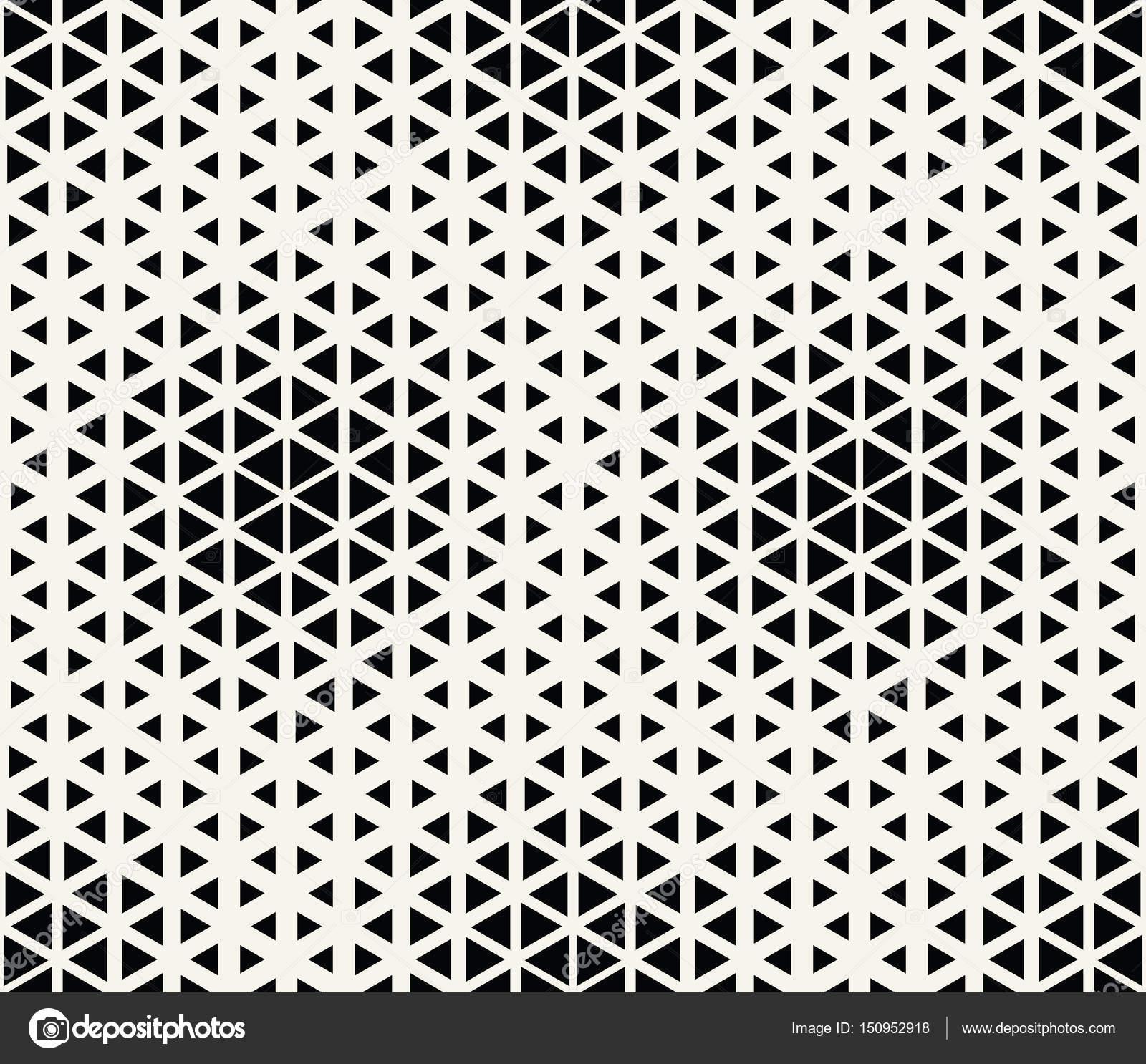 abstrakte geometrische Dreieck nahtloser Vektor Muster Raster ...