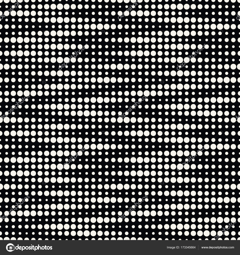 Geometric dots halftone gradient seamless pattern design