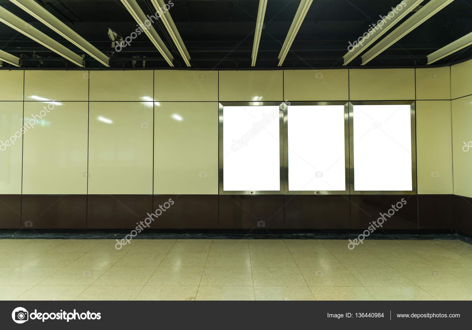 Blank billboard in modern interior hall. u2014 stock photo © sorranop.k