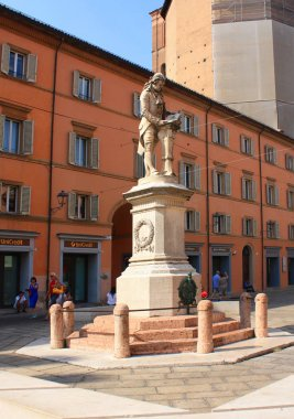 Bologna - September 12, 2016. Monument to Luigi Galvani in Bologna, Italy