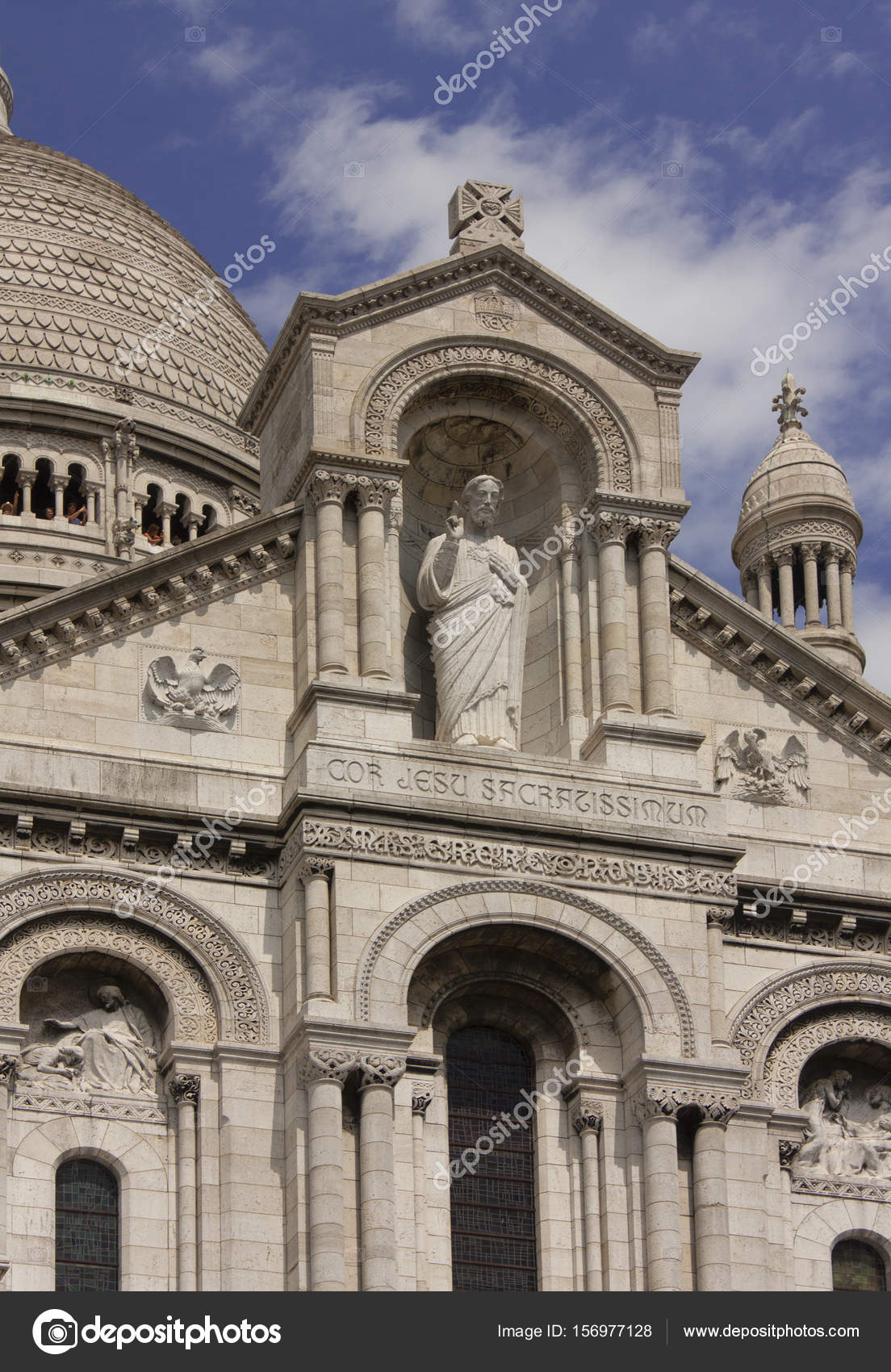 The sculpture of the Sacr-Coeur Cathedral