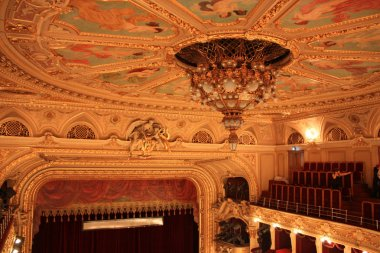 The ceiling of the opera theater in Lviv, Ukraine