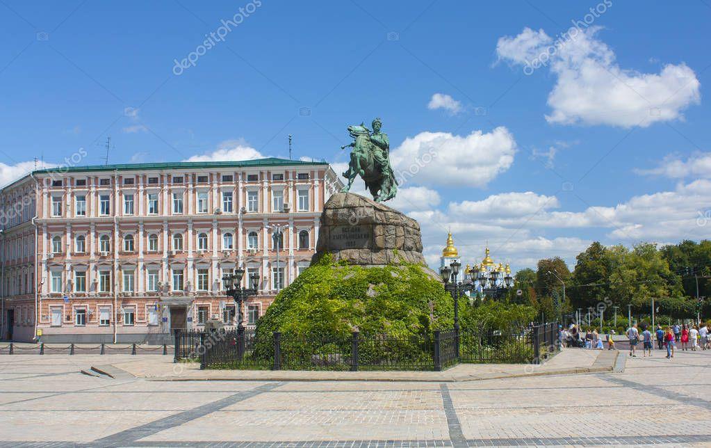 Monument to Bogdan Khmelnitsky in Kiev