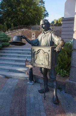 Sculpture of Pope Carlo near the Puppet Theater in Kiev, Ukraine
