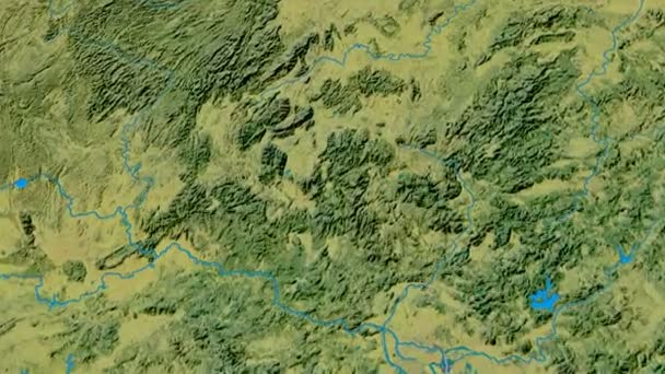 Zoom into Nan Ling mountain range - masks. Topographic map