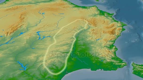 Sierra Morena Mapa Fisico.Revolucion Alrededor De La Cordillera De Sierra Morena Brillaban Mapa Fisico Color