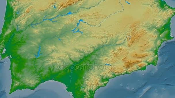 Sierra Morena Mapa Fisico.Zoom En La Cordillera De Sierra Morena Mascaras Mapa Fisico Color