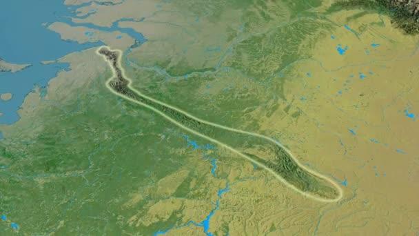 ural karte Revolution um Ural Gebirge   glühte. Topographische Karte