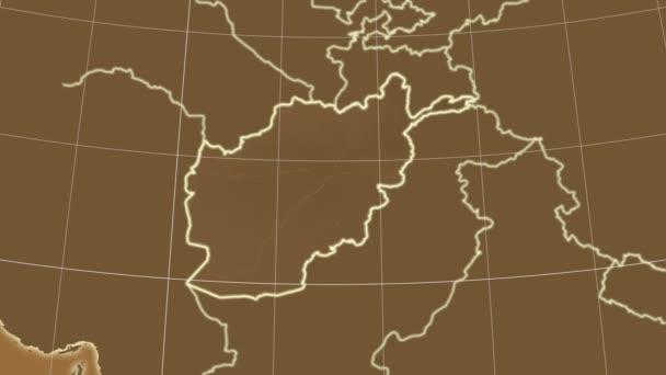 Afghanistan and neighborhood. Tint