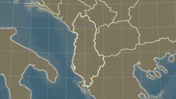 Albania and neighborhood. Satellite