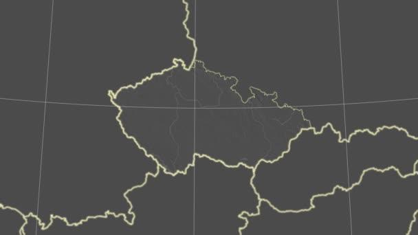 Česká republika a okolí. Stupně šedi v kontrastu