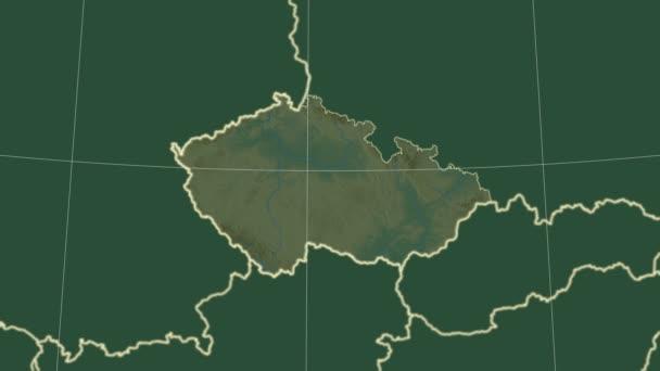 Česká republika a okolí. Reliéf