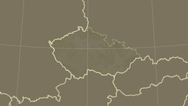 Česká republika a okolí. Satelitní