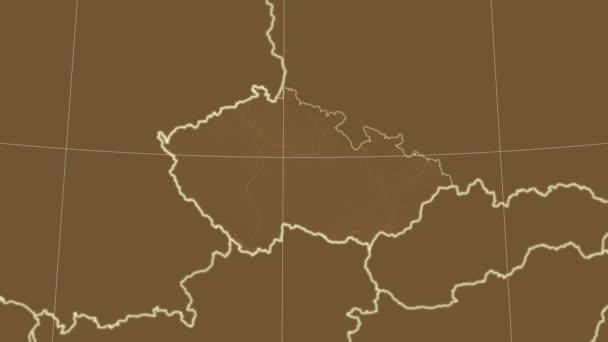 Česká republika a okolí. Odstín
