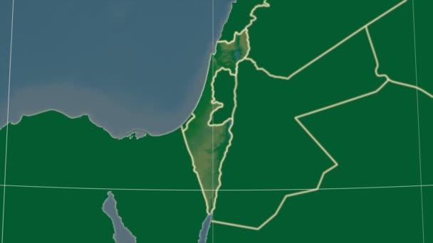 Izrael a okolí. Fyzické