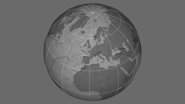 Zoom-in v České republice extrudovaný. Stupně šedi v kontrastu