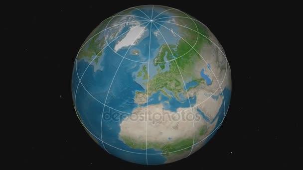 Zoom-in v České republice extrudovaný. Satelitní