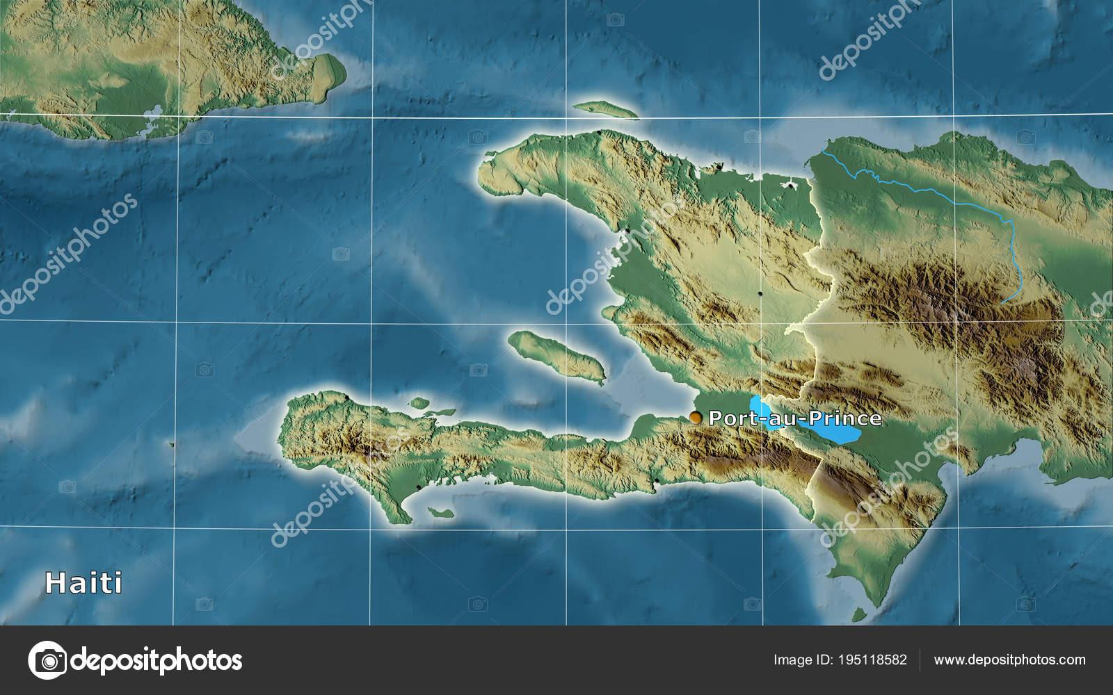 Topographic Map Of Haiti.Haiti Topographic Relief Composition Stock Photo C Yarr65