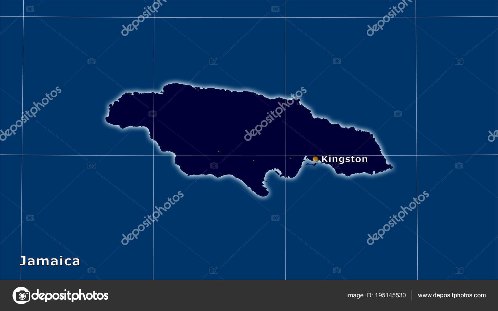 Jamaica, administrative divisions - composition — Stock Photo ...