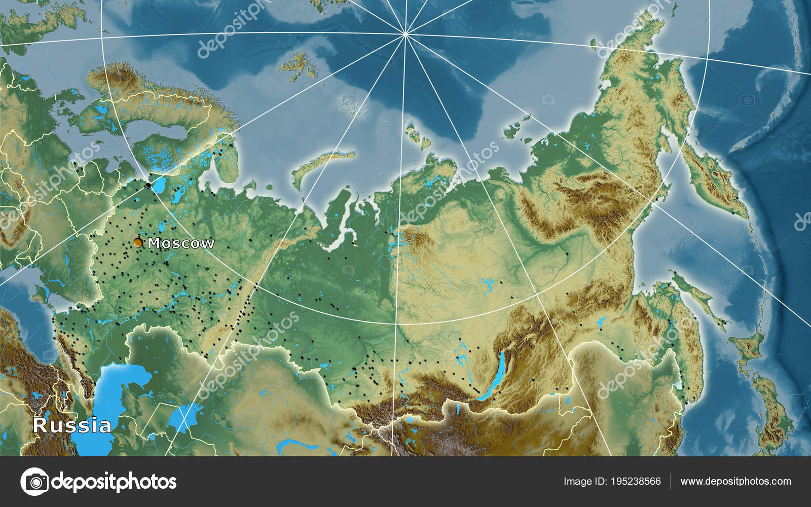 Russia Topographic Relief Composition Stock Photo C Yarr65