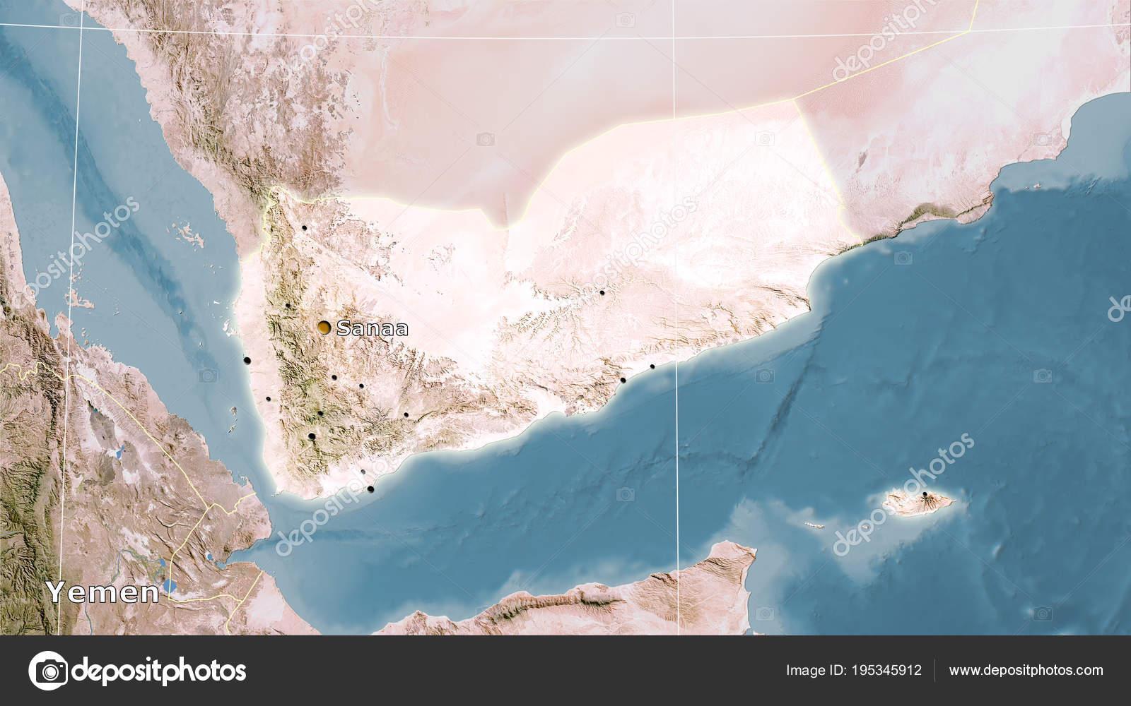 Yemen, satellite C - composition — Stock Photo © Yarr65 ... on detailed map of yemen, road map of yemen, outline map of yemen, terrain map of yemen, political map of yemen, physical map of yemen, topographic map of yemen,